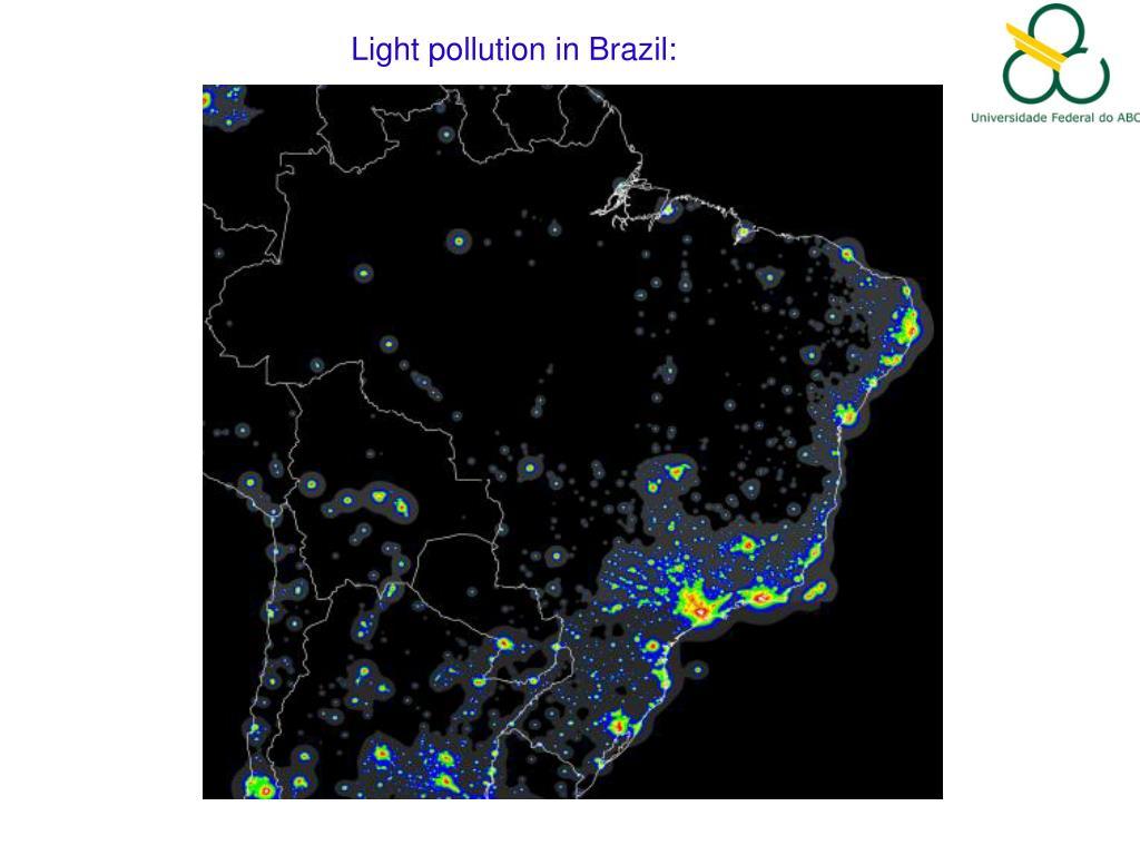 Light pollution in Brazil: