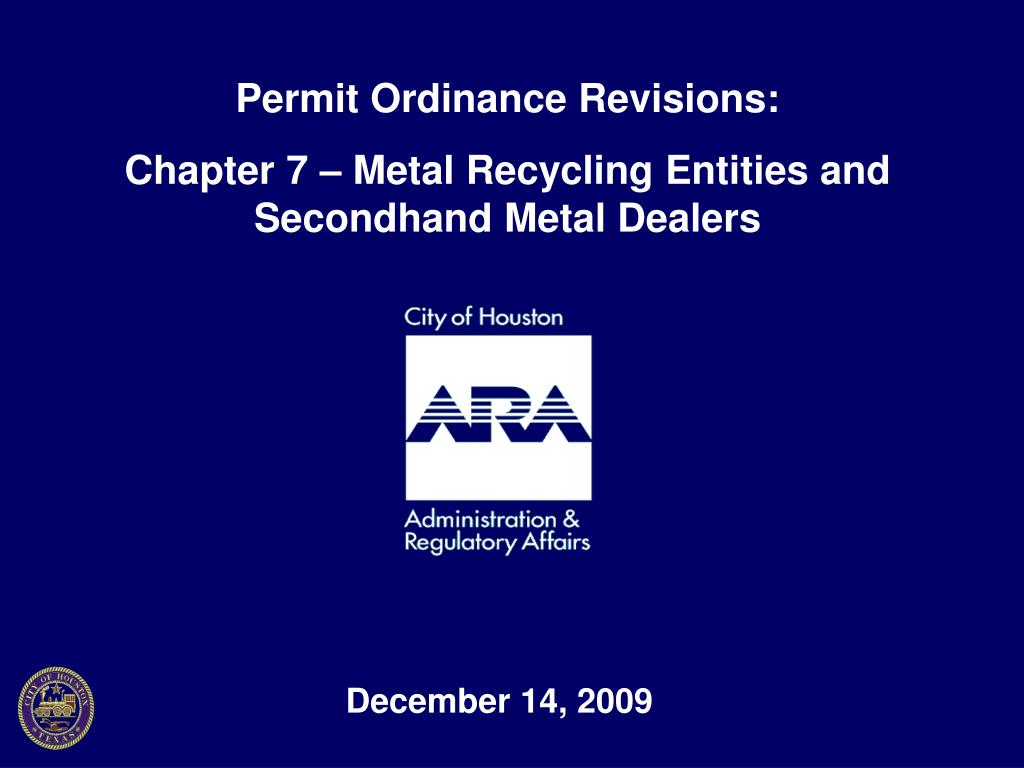 Permit Ordinance Revisions: