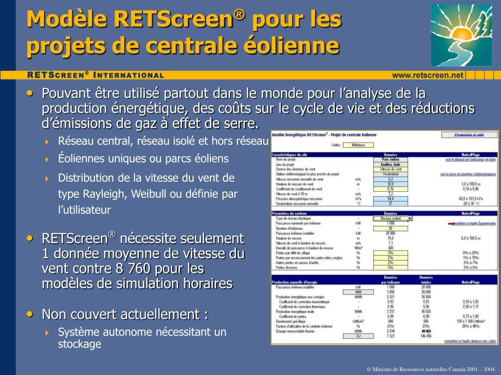 Modèle RETScreen
