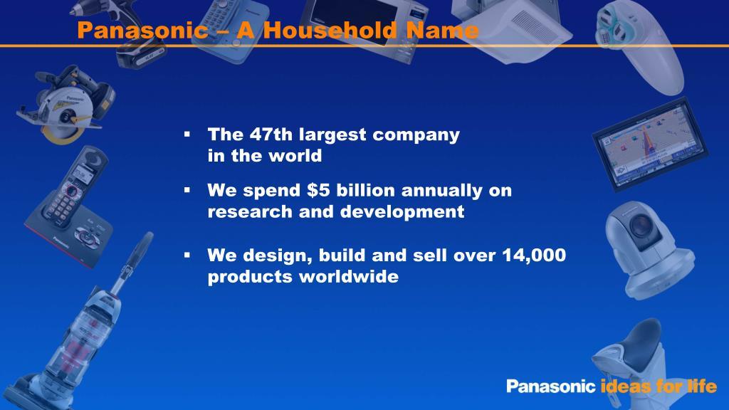Panasonic – A Household Name