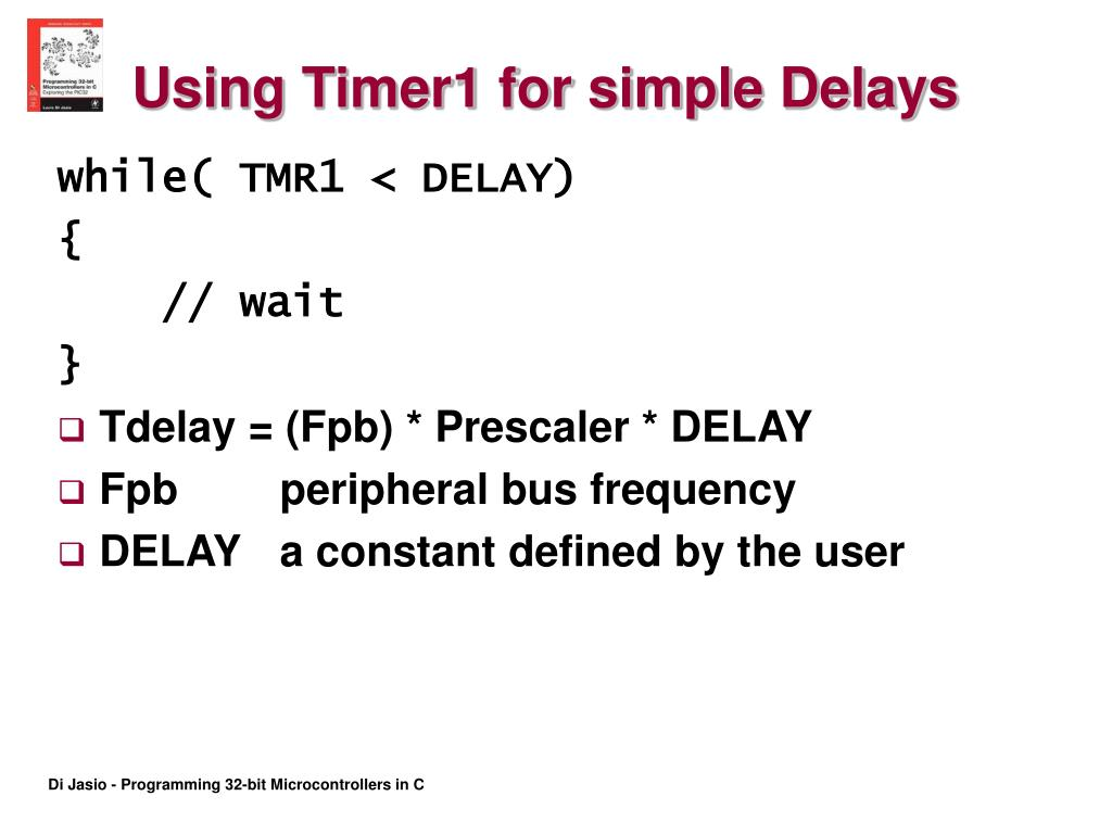 Using Timer1 for simple Delays
