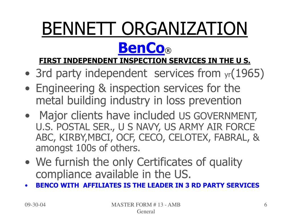 BENNETT ORGANIZATION