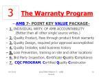 the warranty program