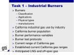 task 1 industrial burners