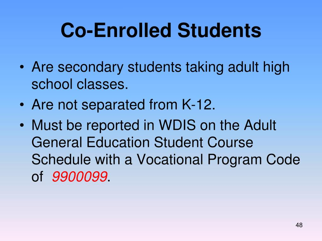 Co-Enrolled Students