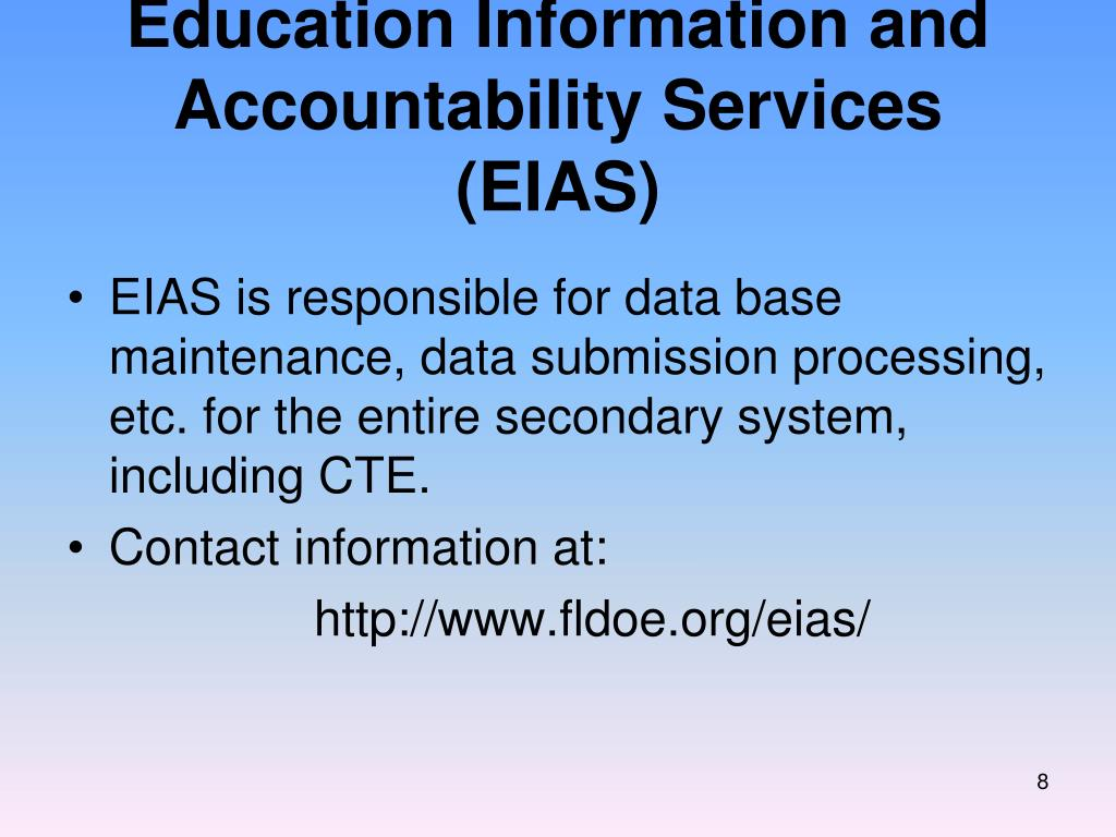 Education Information and Accountability Services (EIAS)