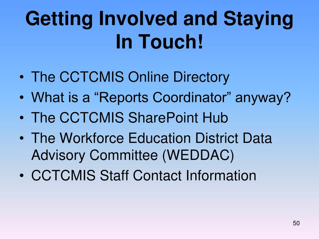 Getting Involved and Staying In Touch!