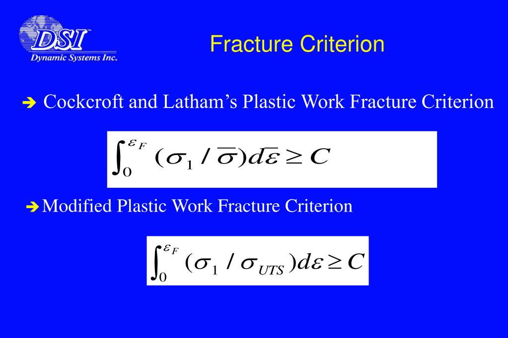Fracture Criterion