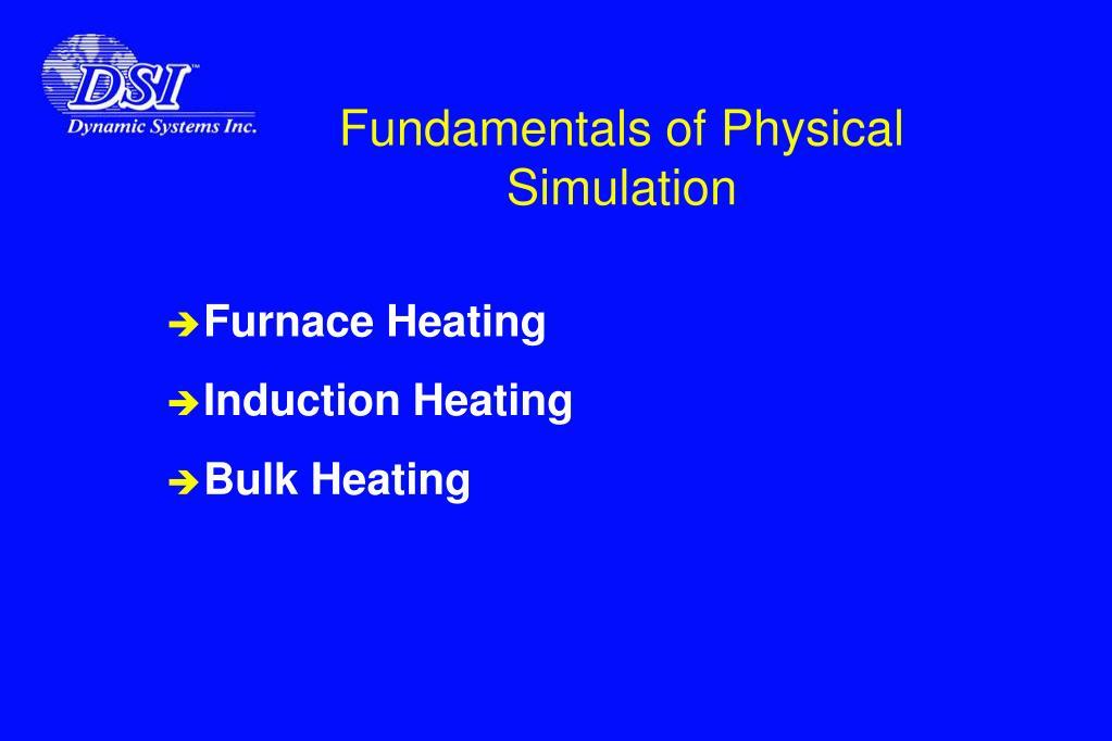 Fundamentals of Physical Simulation