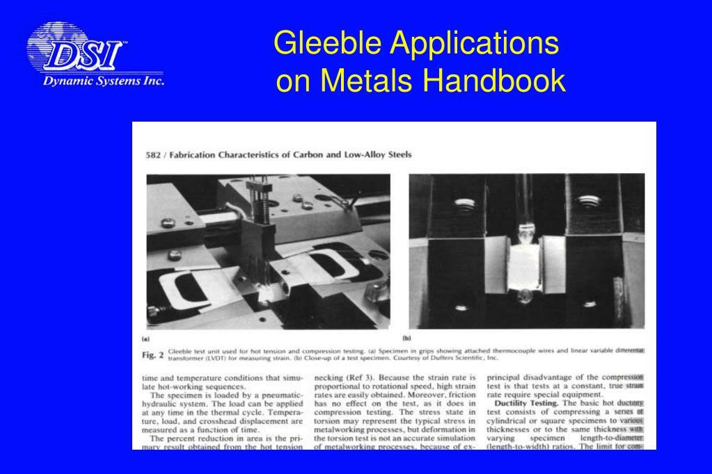 Gleeble Applications