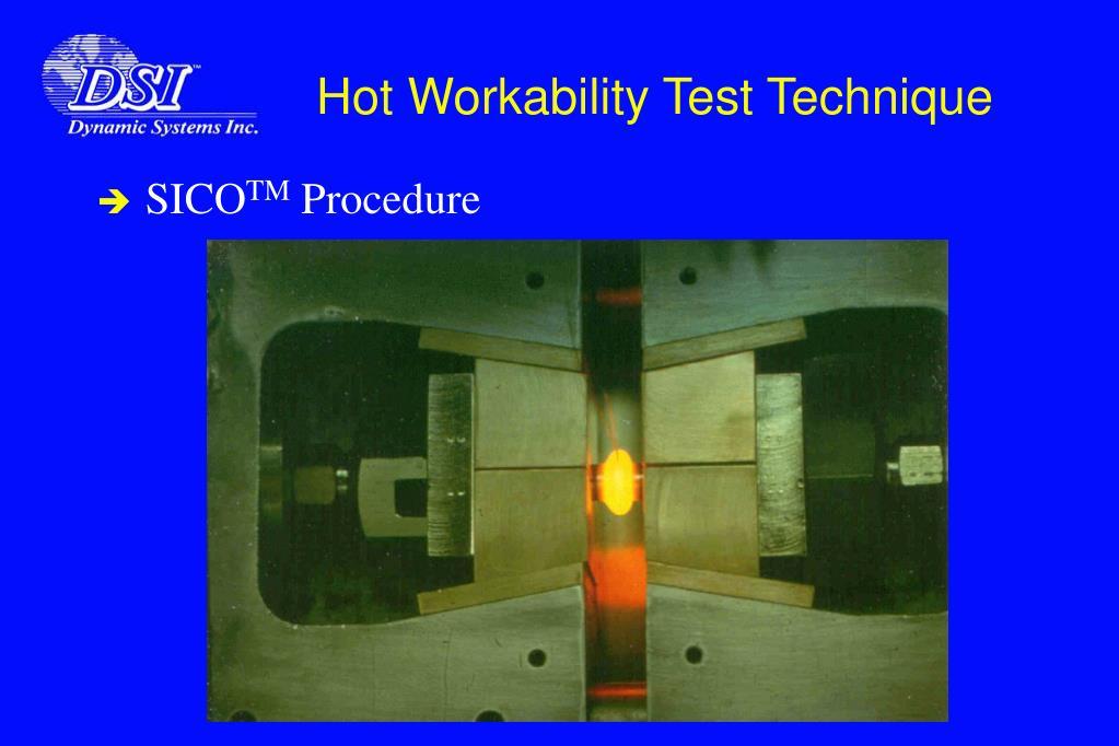 Hot Workability Test Technique