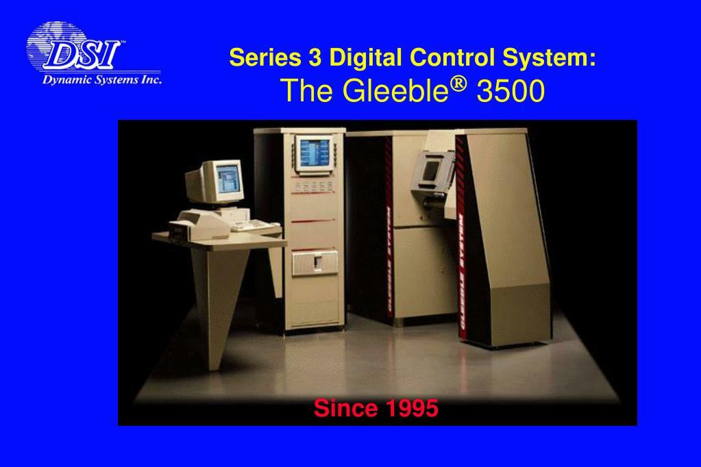 Series 3 Digital Control System: