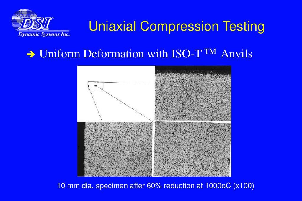 Uniaxial Compression Testing