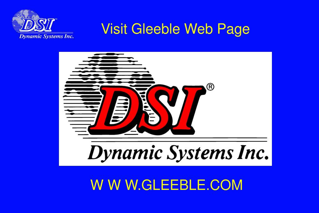 Visit Gleeble Web Page