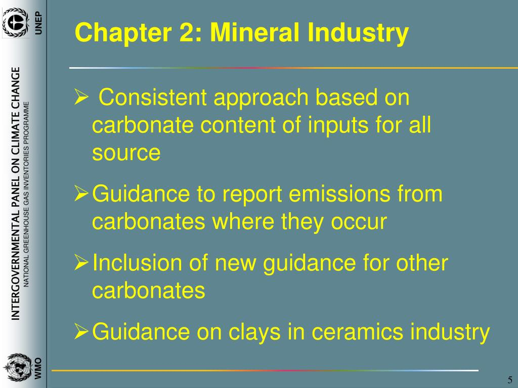 Chapter 2: Mineral Industry
