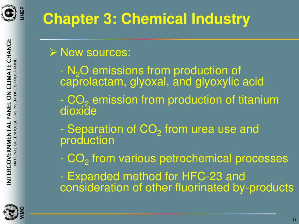 Chapter 3: Chemical Industry