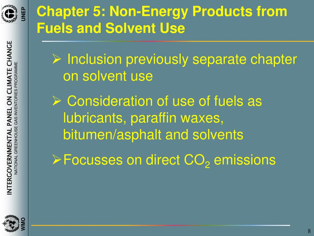 Chapter 5: Non-Energy Products from Fuels and Solvent Use