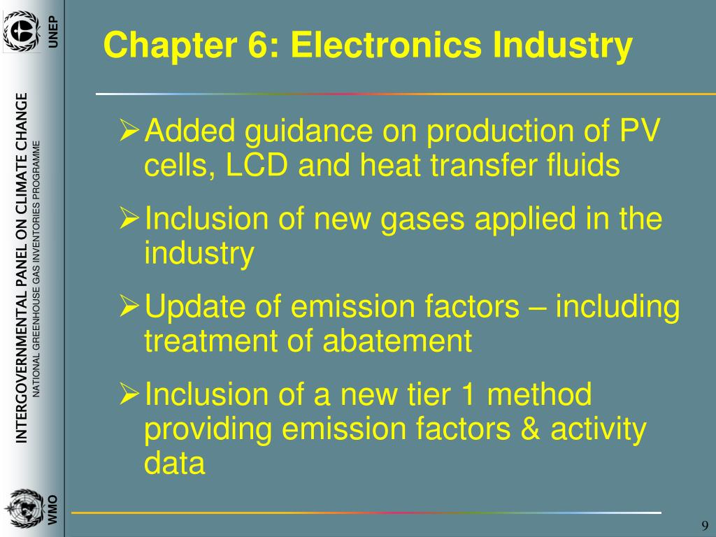 Chapter 6: Electronics Industry