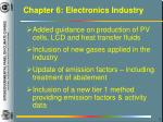 chapter 6 electronics industry