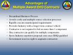 advantages of multiple award idiq contracts