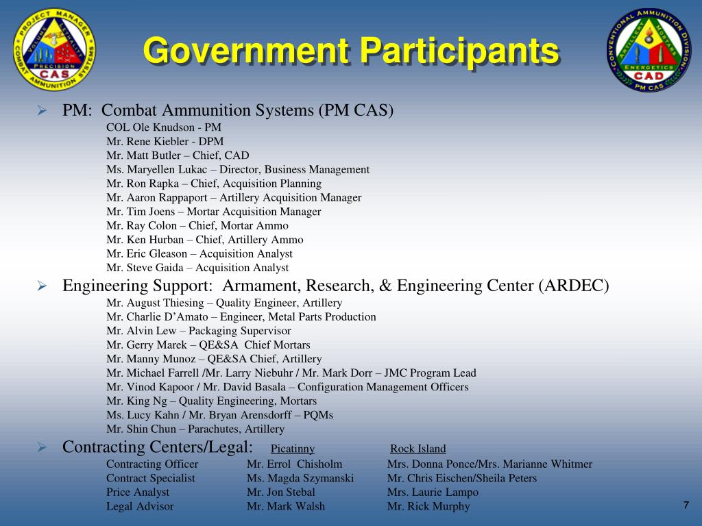 Government Participants