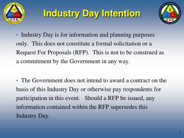 Industry day intention