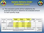 sample delivery order evaluation cont76