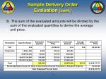 sample delivery order evaluation cont77