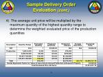 sample delivery order evaluation cont78