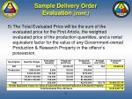 sample delivery order evaluation cont79