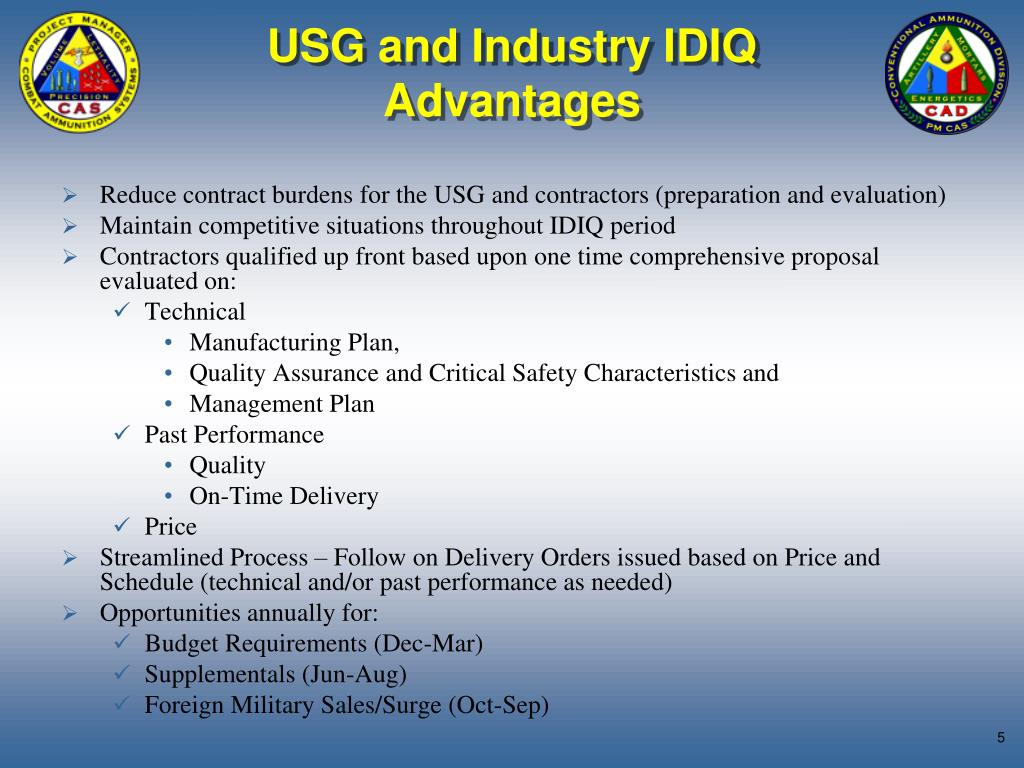 USG and Industry IDIQ