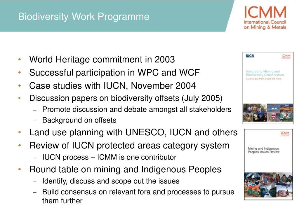 Biodiversity Work Programme