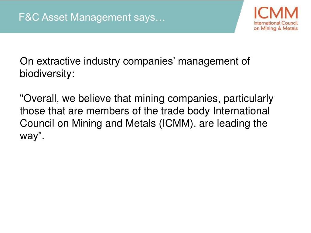 F&C Asset Management says…