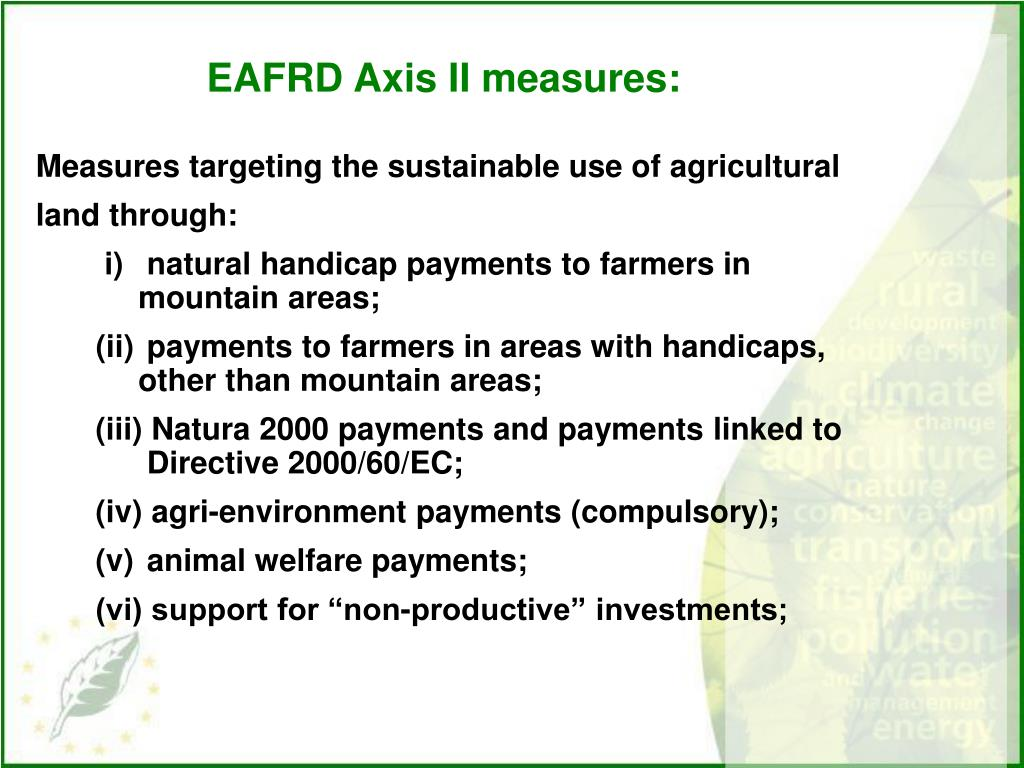 EAFRD Axis II measures: