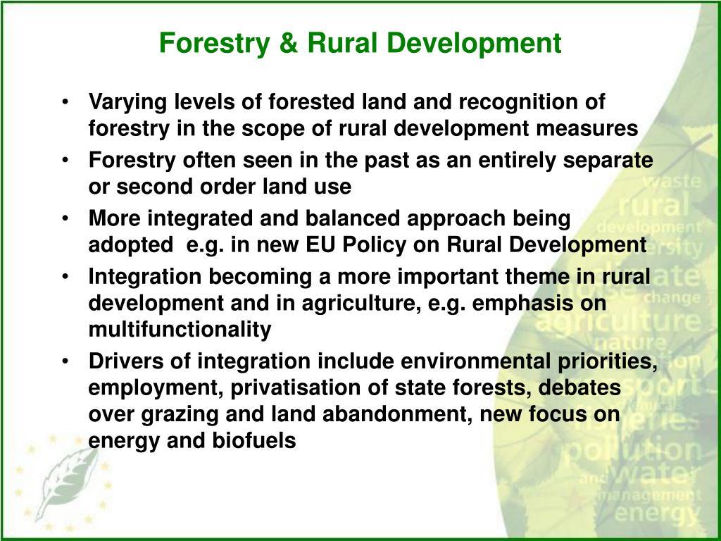 Forestry & Rural Development