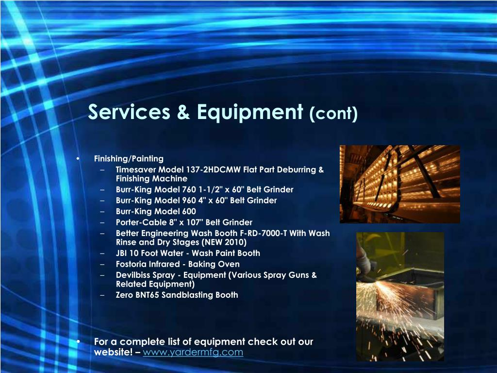 Services & Equipment