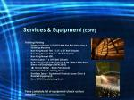 services equipment cont10
