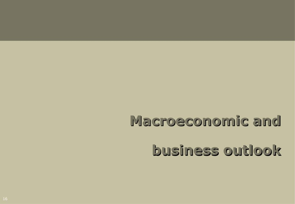 Macroeconomic and business outlook