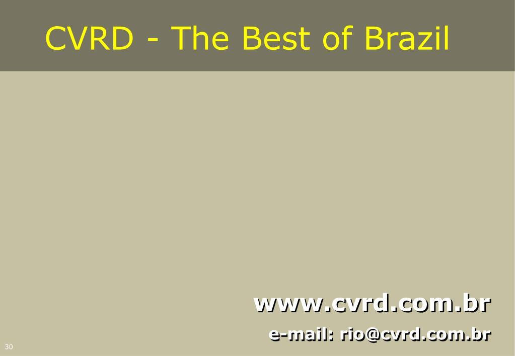CVRD - The Best of Brazil
