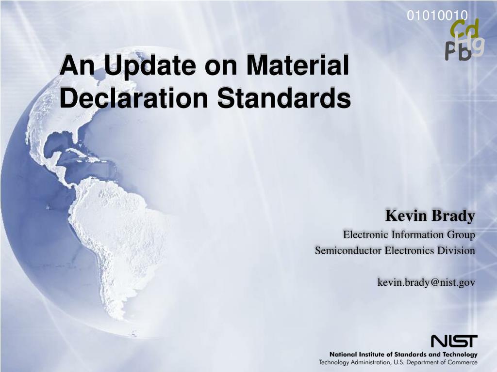 An Update on Material Declaration Standards