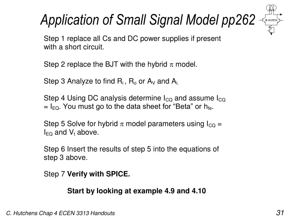 Application of Small Signal Model pp262