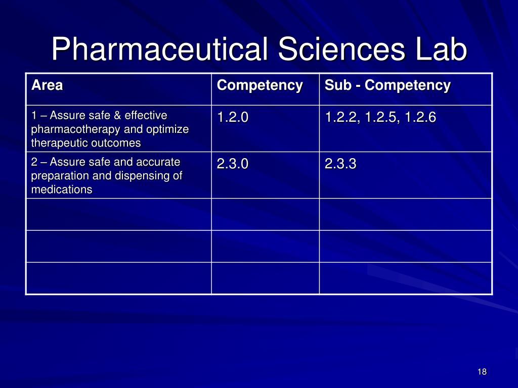 Pharmaceutical Sciences Lab