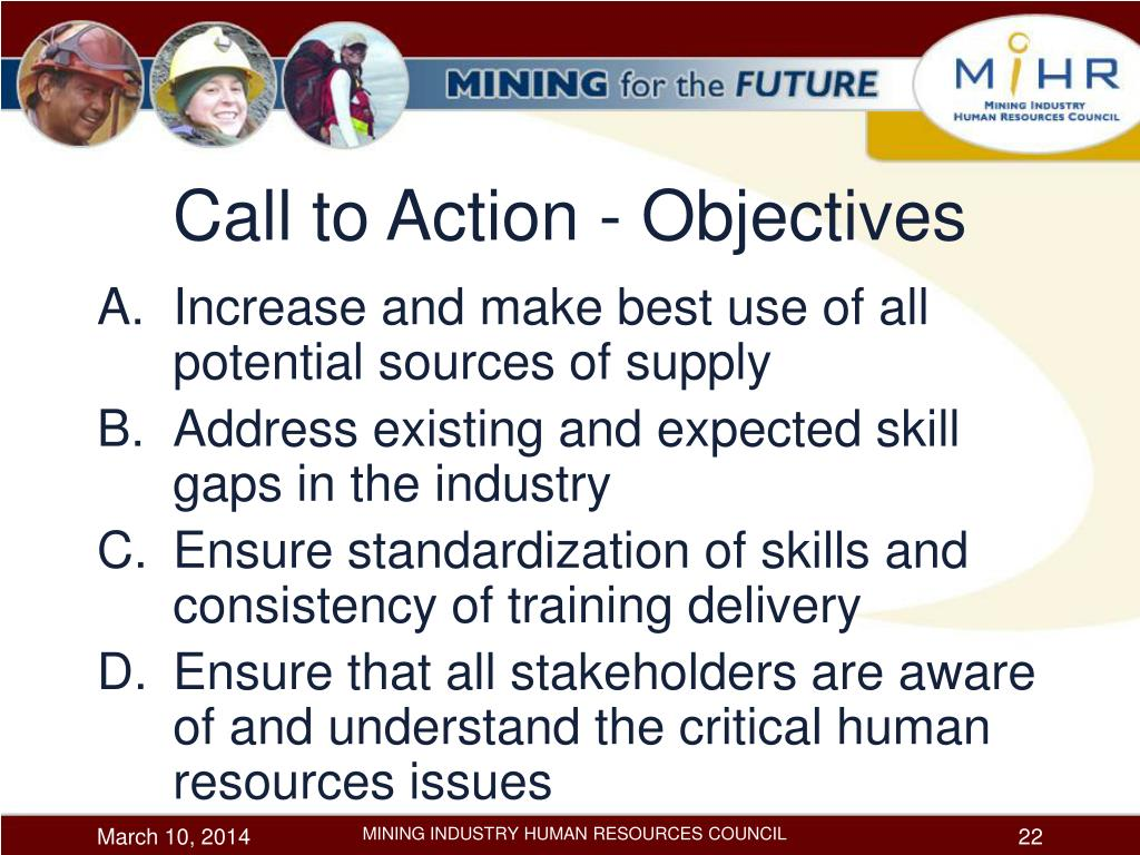 Call to Action - Objectives