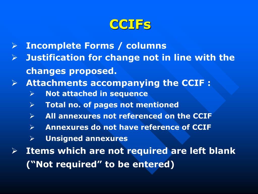 CCIFs