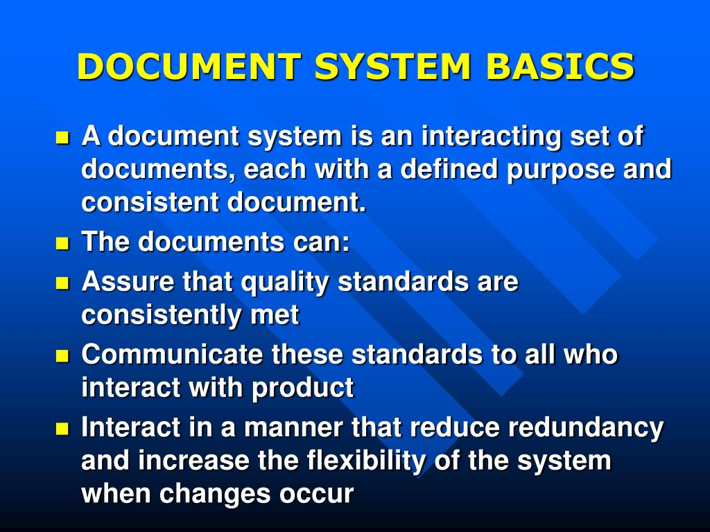 DOCUMENT SYSTEM BASICS