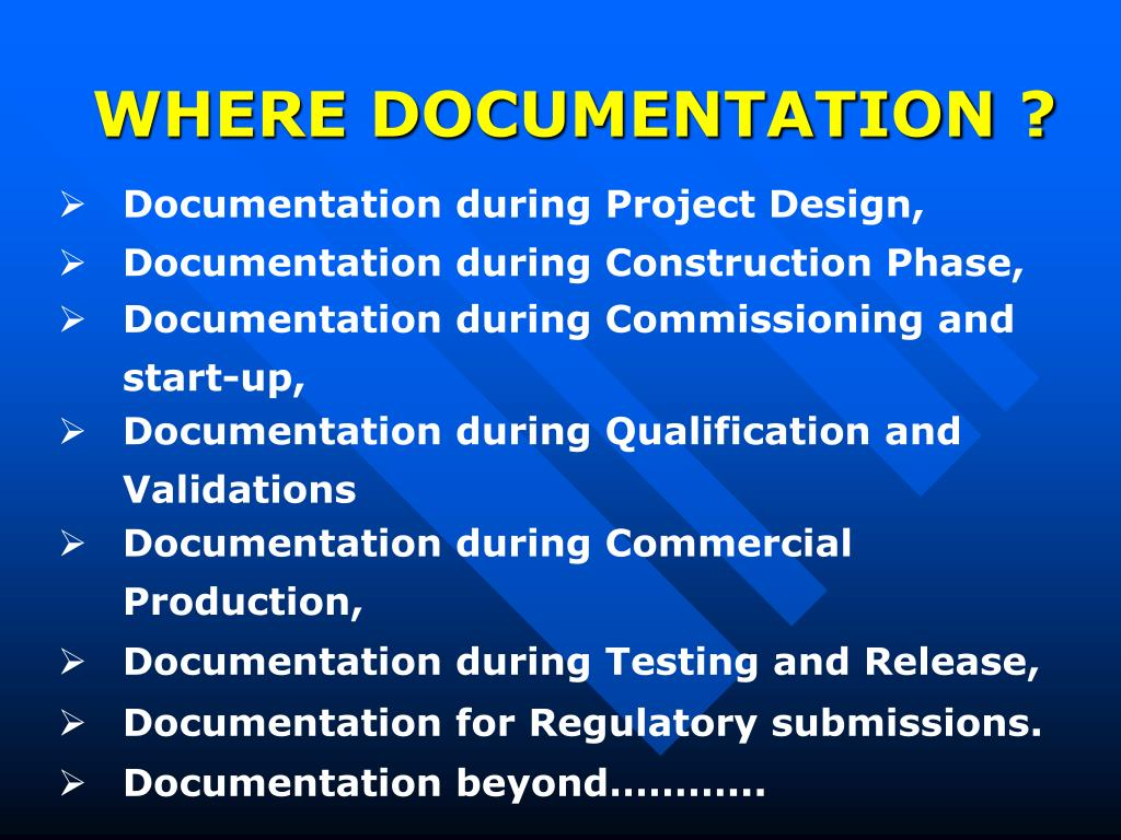 WHERE DOCUMENTATION ?