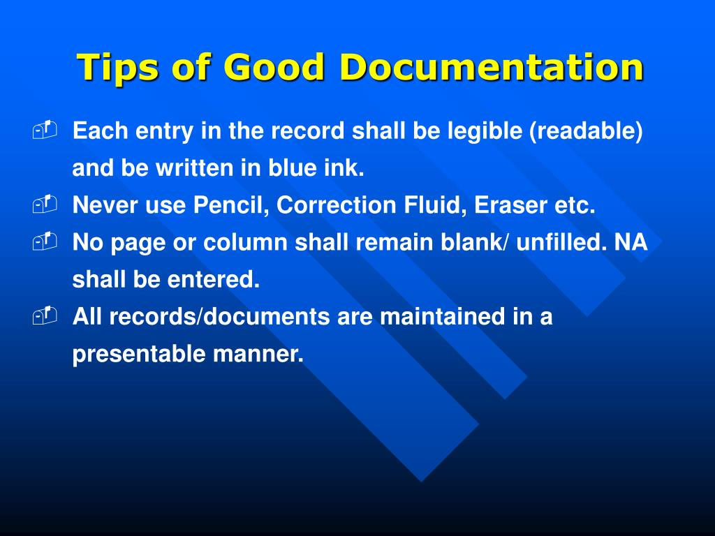 Tips of Good Documentation