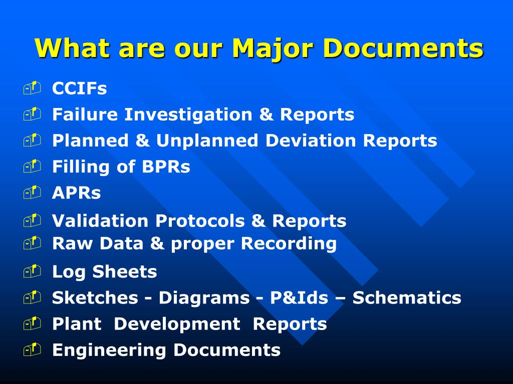 What are our Major Documents