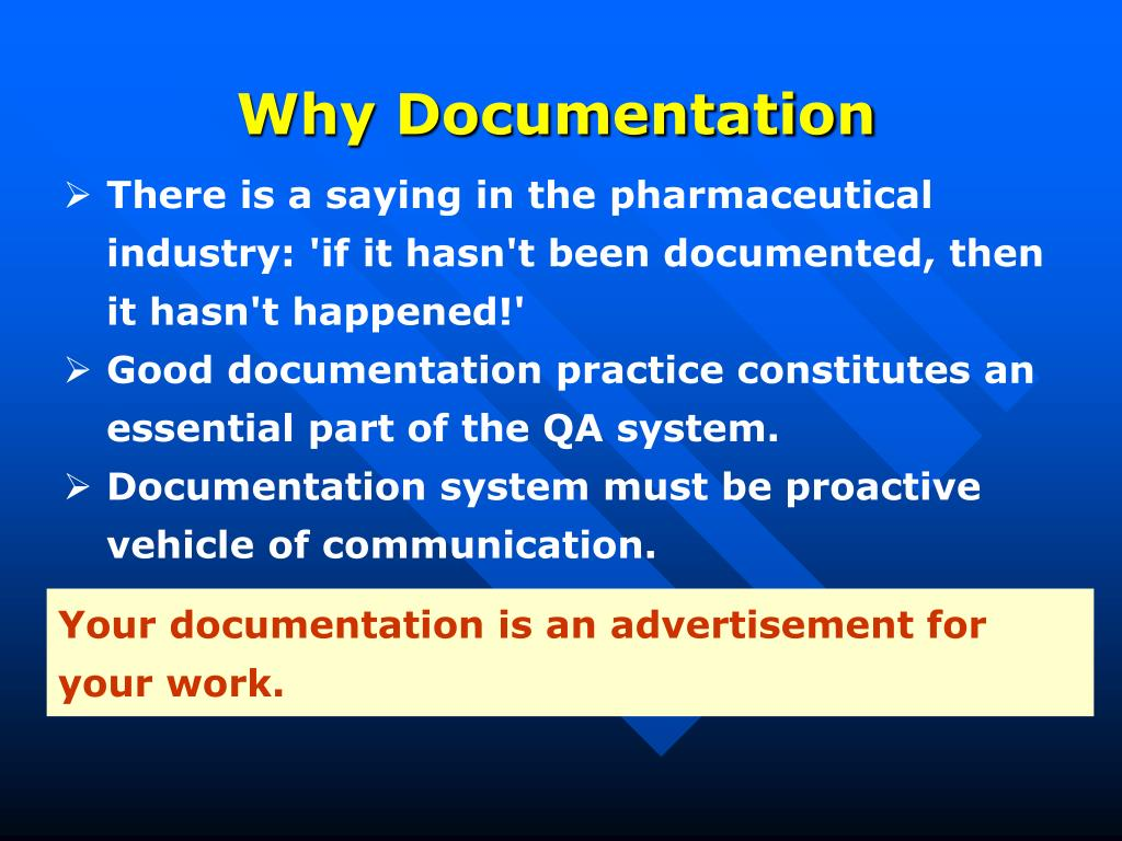 Why Documentation