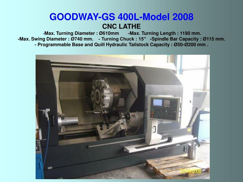 GOODWAY-GS 400L-Model 2008